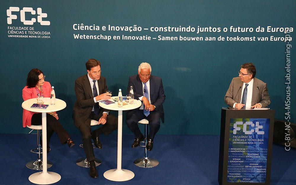 Visita do Primeiro Ministro da Holanda e de Portugal à FCT NOVA