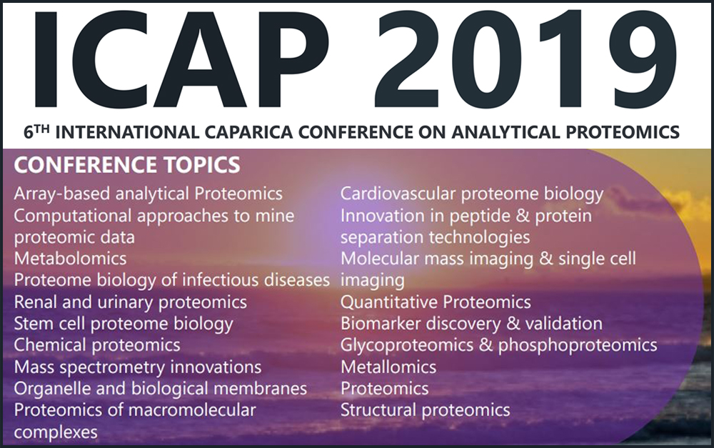 ICAP 2019 – VI International Caparica Conference on Analytical Proteomics 2019