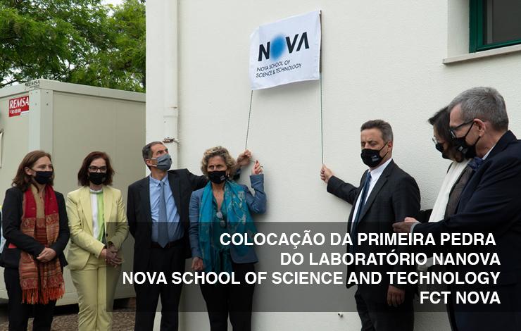 Colocação da primeira pedra do Laboratório NANOVA NOVA School of Science and Technology | FCT NOVA